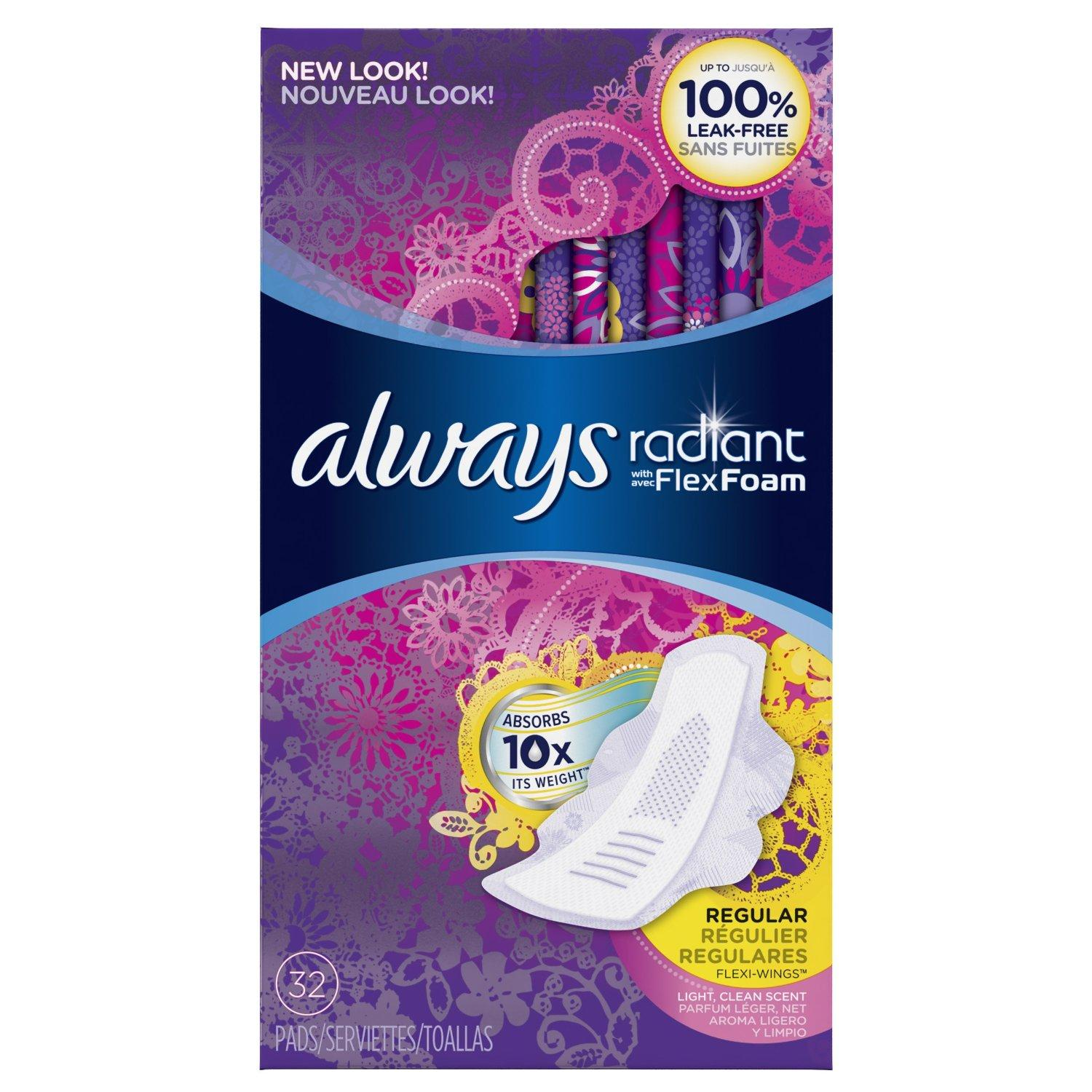 $2 Off Select Always Products @ Amazo...