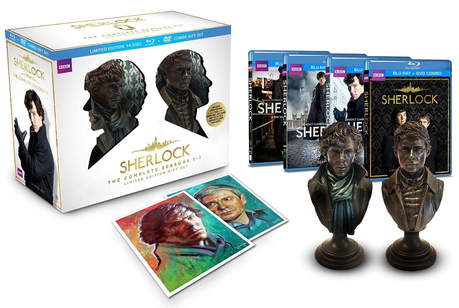 $115.49 Sherlock Limited Edition Gift Set (The Complete Seasons 1-3 Blu-ray/DVD Combo)