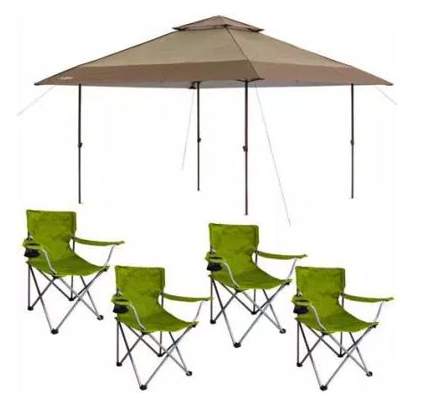 $109 Chapter Pagoda Instant Canopy with 4 Folding Chairs