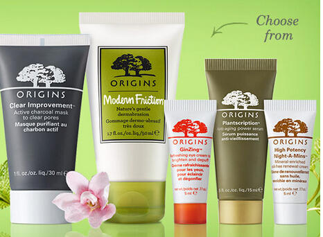 2 Free Minis  with Any $30 Purchase @ Origins