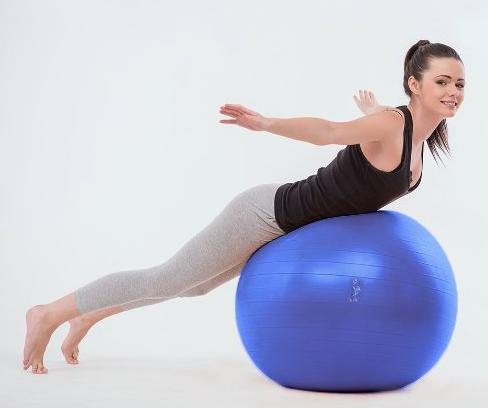 Lowest price! Exercise Ball 65cm - Anti-Burst Yoga Ball - For ab Workout - Foot Pump Included
