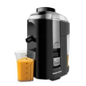 Black Decker JE2200B 400-Watt Fruit and Vegetable Juice Extractor with Custom Juice Cup, Black