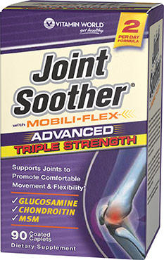 Vitamin World Advanced Triple Strength Joint Soother 90 Caplets x 2 Bottles
