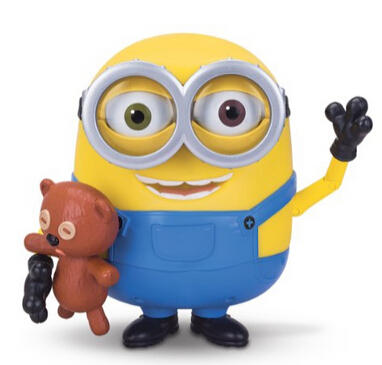 Minions Bob Interacts with Teddy Bear