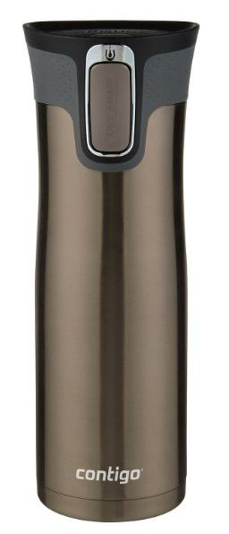 Contigo AUTOSEAL West Loop Stainless Steel Travel Mug with Easy-Clean Lid, 20-Ounce, Latte