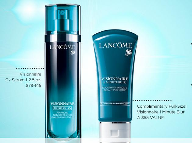 Free Full Size Visionnaire One Minute BlurWith Any any Size Lancôme Visionnaire Cx serum purchase @ ULTA Beauty