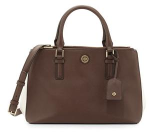 Tory Burch Robinson Color Block Mini Double-Zip Tote Bag @ CUSP by Neiman Marcus