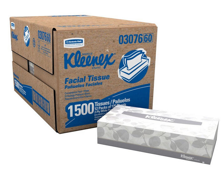 $11.39 Kimberly-Clark Kleenex 03076 Facial Tissue Convenience Pack (12 Boxes of 125)