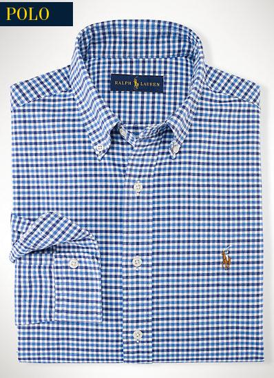 $34.99 Ralph Lauren Men's Tattersall Oxford Sport Shirt