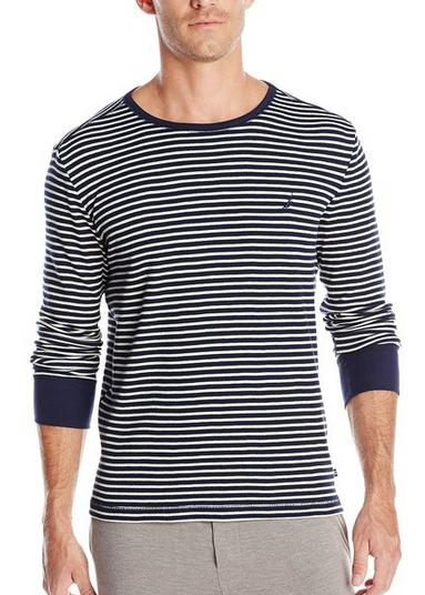 $8.32 Nautica Men's Striped Thermal Shirt(Size M)