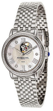 Raymond Weil Maestro Automatic Open Balance Wheel Women's Watch 2627-STS-00965 (Dealmoon Exclusive)