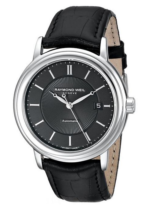 $499 Raymond Weil Men's Maestro Analog Display Swiss Automatic Black Watch