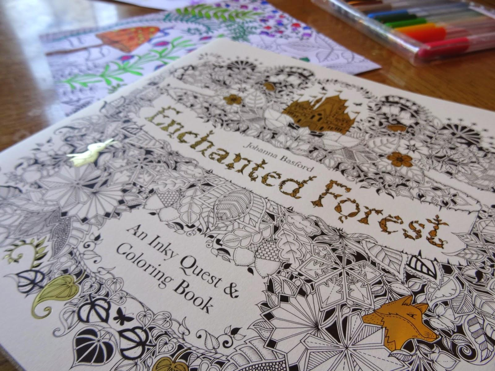 $9.84 Enchanted Forest: An Inky Quest & Coloring Book