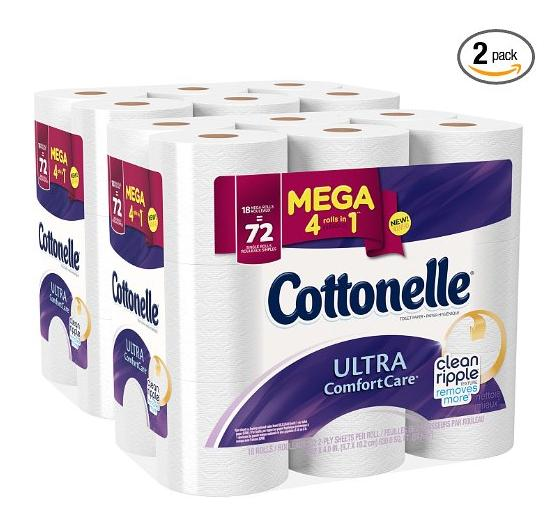 $15.06 Cottonelle Ultra Comfort Care Mega Roll Toilet Paper, 18 Count (Pack of 2)
