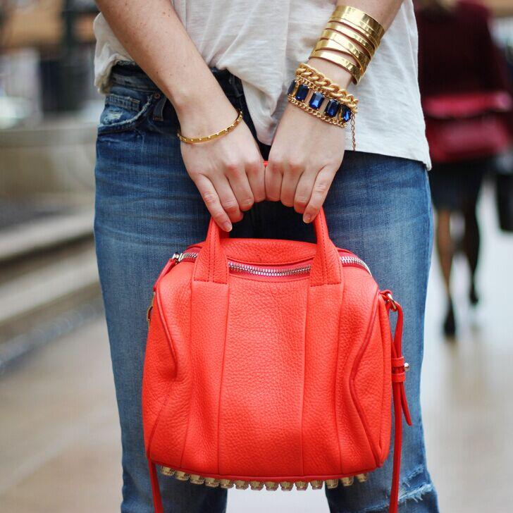 Alexander Wang Rocco Pebbled Leather Satchel Bag @ CUSP by Neiman Marcus