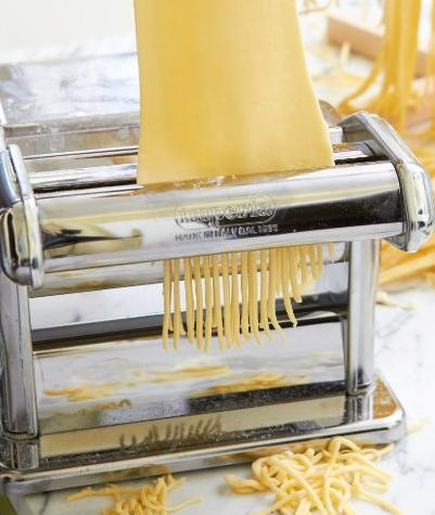 $36.99 Imperia Pasta Maker Machine (150) By Cucina Pro - Heavy Duty Steel Construction with Easy Lock Dial and Wood Grip Handle