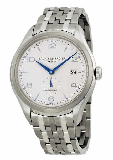 $1295Baume and Mercier Clifton Silver Dial Stainless Steel Automatic Men's Watch 10099