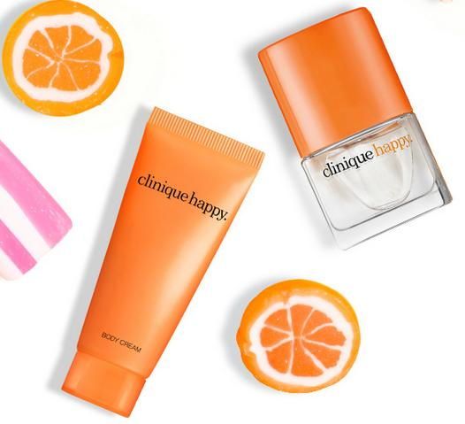 Free Happy Body Cream + Happy Fragrance Mini + Free shipping With Any Purchase @ Clinique