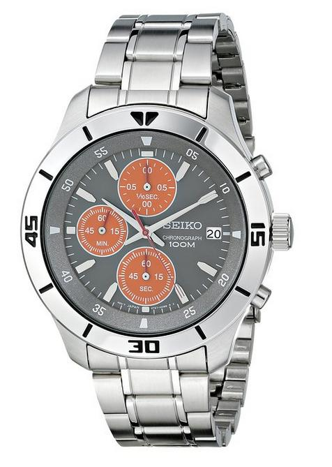 eiko Men's SKS415 Amazon Exclusive Stainless Steel Watch with Link Bracelet
