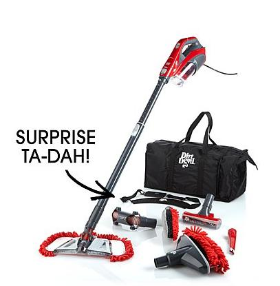 $89.95 Dirt Devil® 360º Reach Power Pro Handheld Cyclonic Vacuum with 6 Accessories @ HSN
