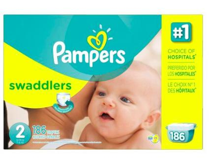 $29.79 Pampers Swaddlers Diapers Economy Pack Size 2-5