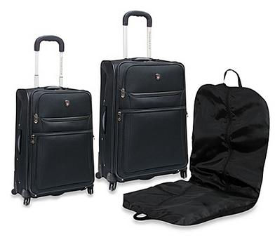 Traveler's Club Expandable Spinner 3-Piece Luggage Set