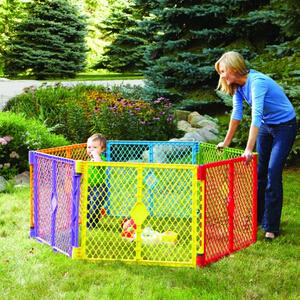 North States Industries Superyard Play Yard, Colorplay, 8 Panel
