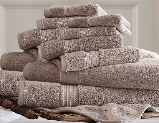 $48.99 12-Piece 650 GSM 100% Egyptian Cotton Luxury Spa Collection Towel Set