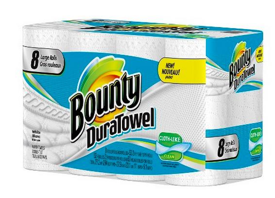$19.98+$5 Gift Card Purchase of 2 Bounty DuraTowel White Cloth-Like Paper Towels 8 Large Rolls