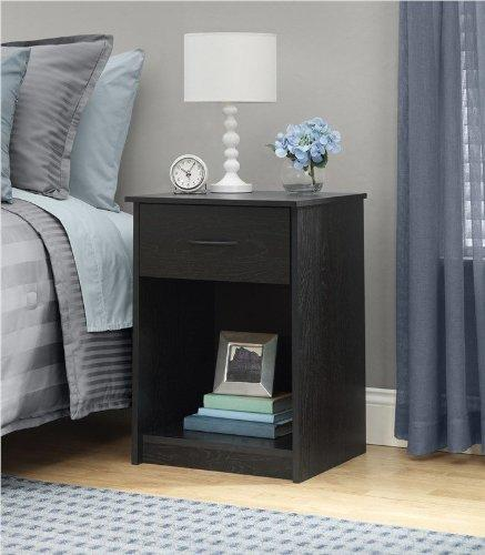 $29 Ameriwood Night Stand, Black Ebony