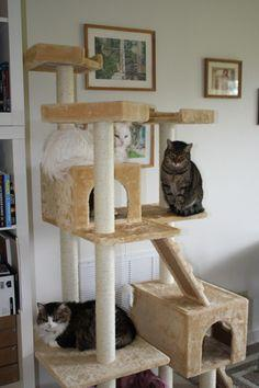 $85.95 Go Pet Club Cat Tree F2040 - Beige - 72 in.