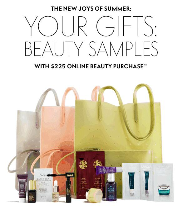 Free Summer Tote & Matching Wristlet with Samples with $225 Beauty Purchase @ Neiman Marcus