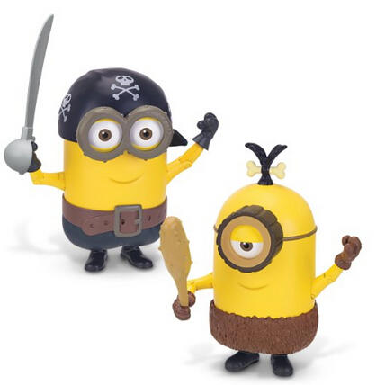 Minions Deluxe Action Figure - Build-A-Minion Pirate/CRO-Minion