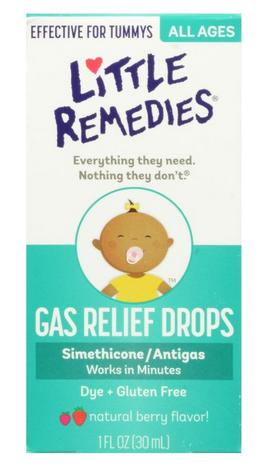 Little Remedies Tummys Gas Relief Drops, Natural Berry Flavor, 1 Ounce @ Amazon.com