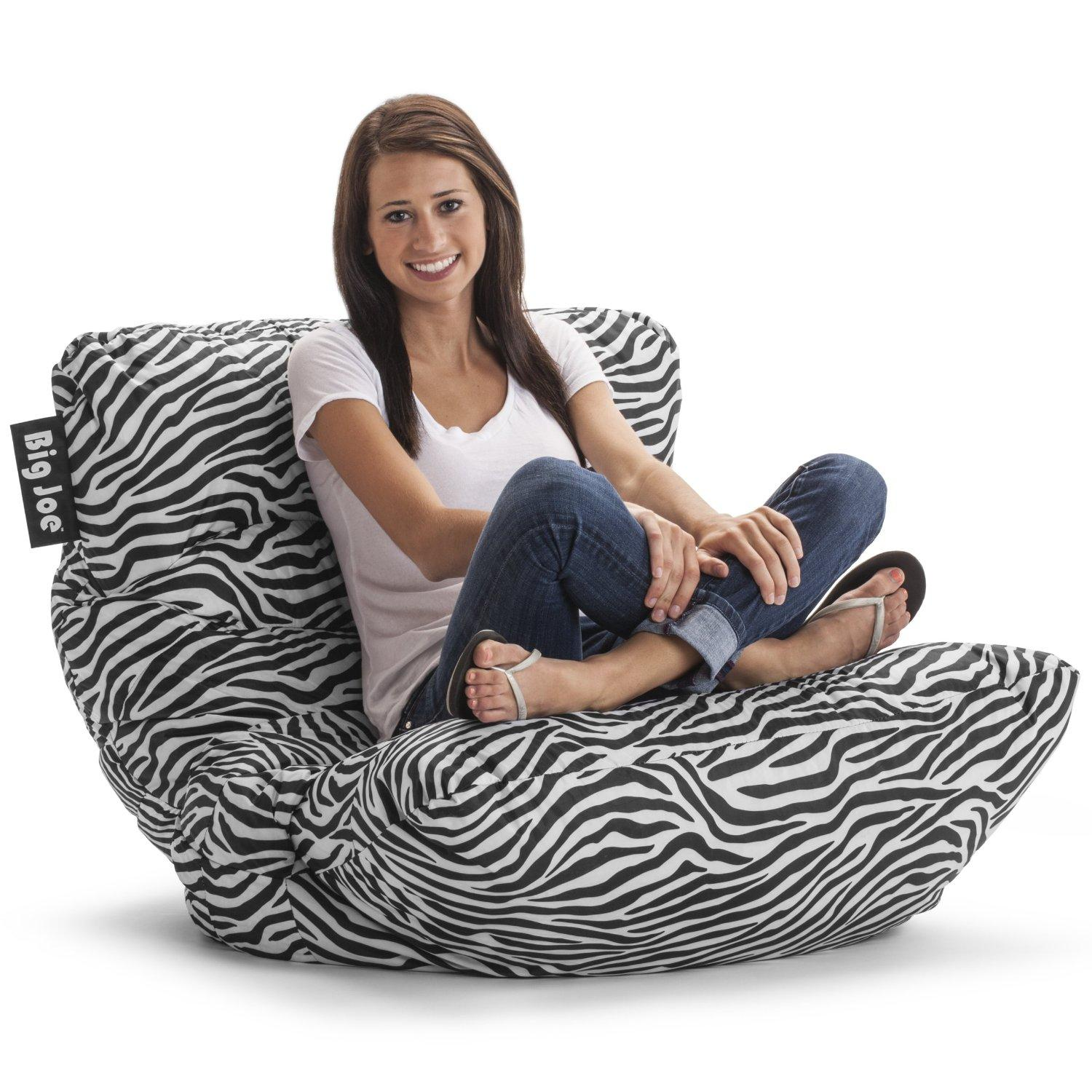 $29 Big Joe Roma Bean Bag Chair, Zebra