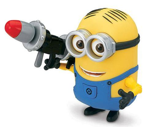 $11.99 Despicable Me 2 Minion Dave Deluxe Action Figure with Rocket Launcher