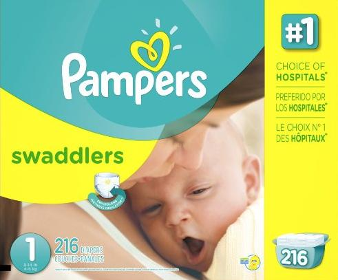 $74.97 3 Boxes of Pampers Diapers-Size 1 & 2