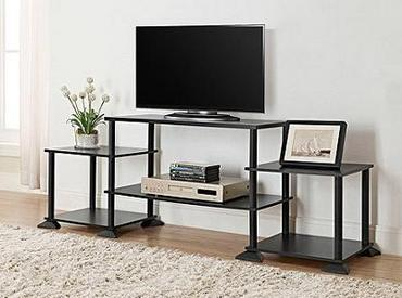 $18.88 Mainstays No Tools 3-Cube Storage Entertainment Center for TVs up to 40""