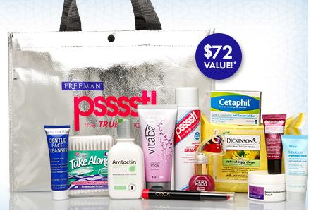 Free Sample Filled Totewith $70 Beauty Department Purchase @ Drugstore
