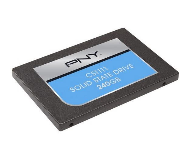 PNY - CS1100 240GB Serial ATA III Solid State Drive - Black