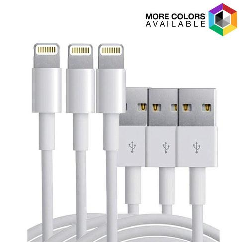 3-Pack:10ft 8 Pin Cable for Apple iPhone 5/6/6+