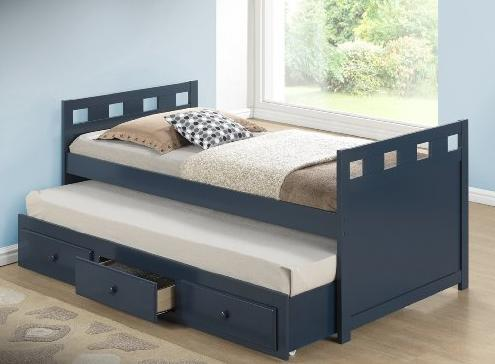 $379.98 Broyhill Kids Breckenridge Captain's Bed with Trundle Bed and Drawers, Blue