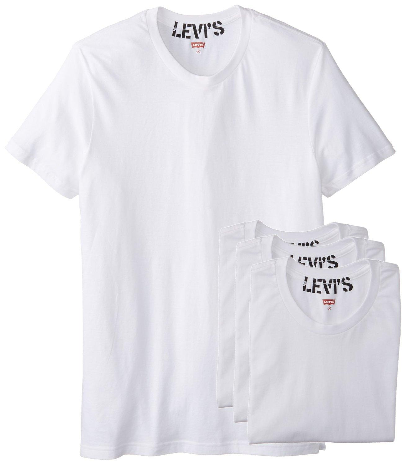 Levi's Men's 100 Series 4-Pack Knit Crew Neck T-Shirt