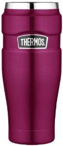 Thermos Stainless King 16-Ounce Travel Tumbler, Raspberry