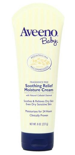 Aveeno Baby Soothing Relief Moisture Cream, Fragrance Free, 8 Ounce