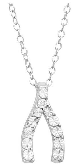 Wishbone Pendant with Diamonds