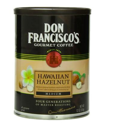 $3.73 Don Francisco Hawaiian Hazelnut Coffee, 12 Ounce
