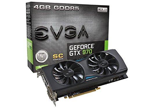 $319.99 EVGA GeForce GTX 970 Super Clocked ACX 2.0 4GB GDDR5 Graphics Card