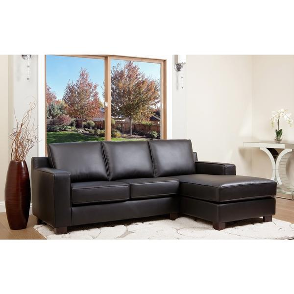 $431.4 ABBYSON LIVING Beverly Black Leather Sectional Sofa