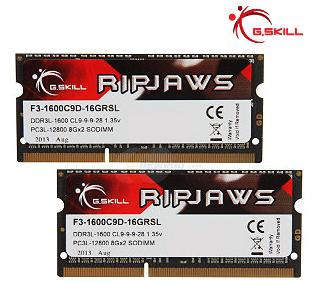 G.SKILL Ripjaws Series 16GB (2 x 8G) 204-Pin DDR3 SO-DIMM DDR3L 1600 (PC3L 12800) Laptop Memory